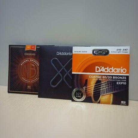 Струны для акустической гитары (Ernie Ball, D`Addario, Elixir, Dunlop)