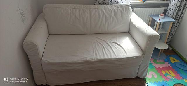 Sofa dwuosobowa rozkładana IKEA HAGALUND biała