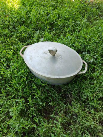 Алюминиевая гусятница времён СССР номер 7 л литров кастрюля