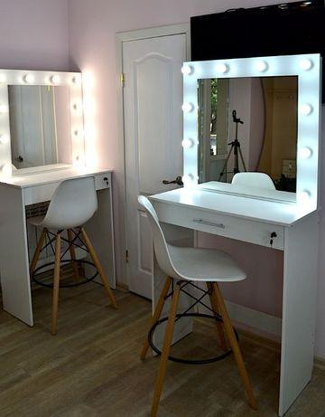 Макияжный визажный стол под барный стул гримерное зеркало
