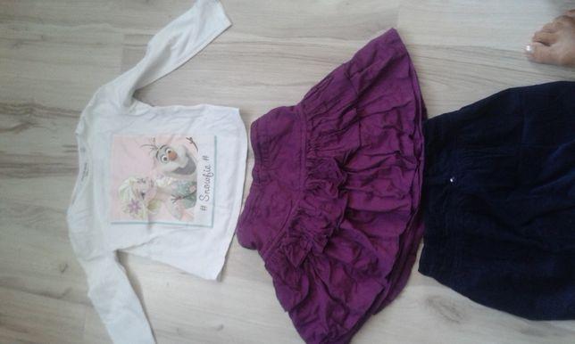 Ubranka w rozmiarze 122