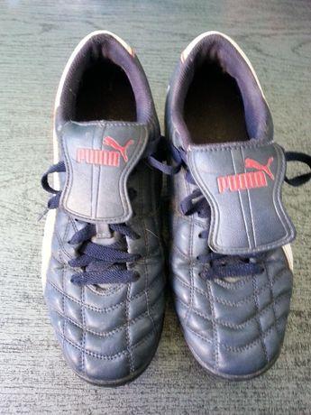 Buty PUMA sportowe śnieżynki piłkarskie rozmiar 39 (24cm) granatowe