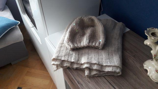 Komplet włoski czapka i szal