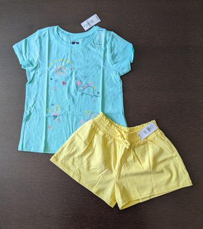 Gap футболка и шорты 5t gap хлопок майка шорти шортики Carter's Gap 5