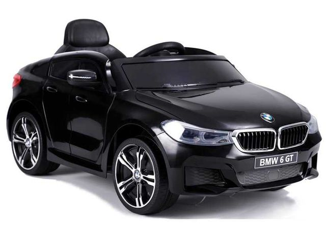 Autko na akumulator BMW 6GT Miękkie koła EVA skóra