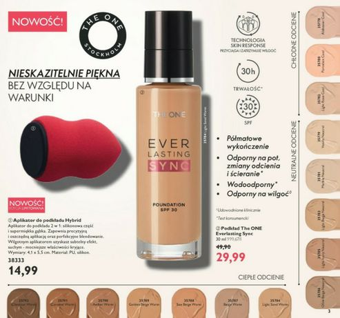 Podkład The ONE Everlasting Sync Oriflame!! Nowy!!
