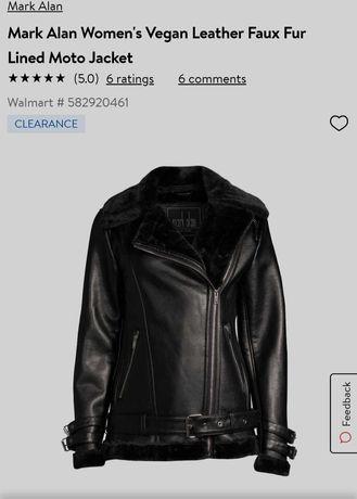 куртка авиатор из рu кожи