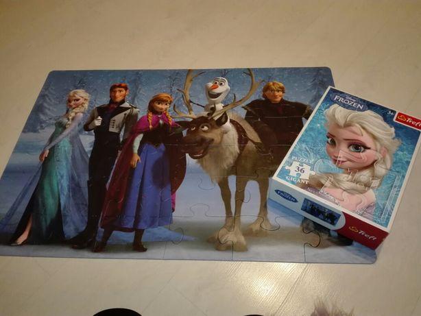 Puzzle Trefl Disneya gigant 36 el jak Nowe, Kraina Lodu, Elsa i Anna
