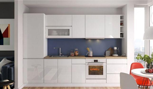 Biała kuchnia VEGAS lakierowana na wysoki połysk