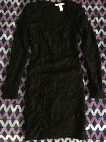Платье кружево черное xs НОВОЕ