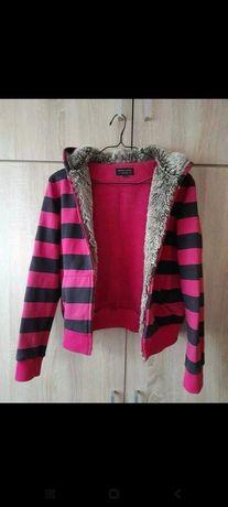 Bluza damska różowa Magic Camel z futerkiem M/L