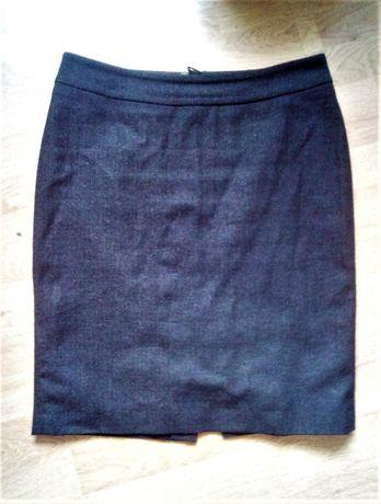 Klasyczna ciemna spódnica do kolan z wełną, Pietro Filipi roz.L