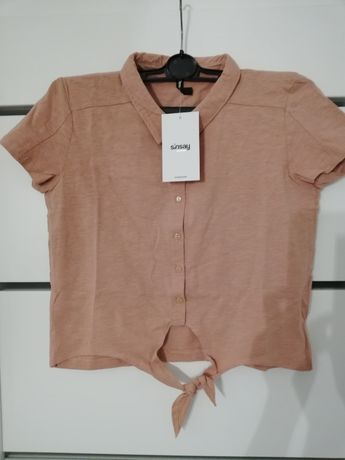 Bluzka krótki top Sinsay nowy M
