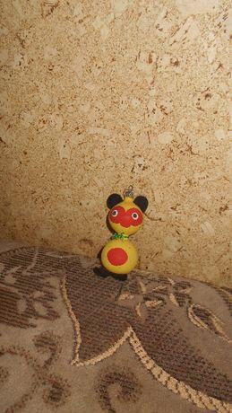 PRL - bombki - ozdoby choinkowe żółta kotka - myszka