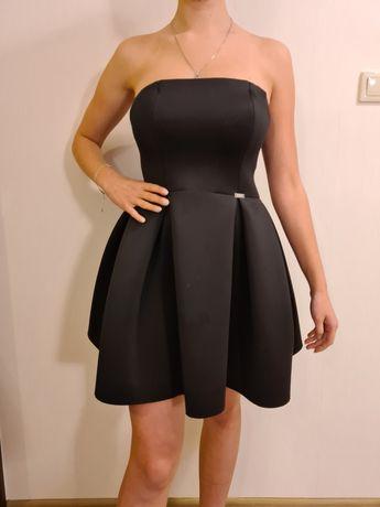 Sukienka krótka mała czarna imprezowa balowa bez ramiączek roz. S