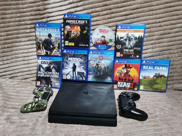 Playstation 4 slim + 2 Pady + Super Gry /zamiana na inną konsole