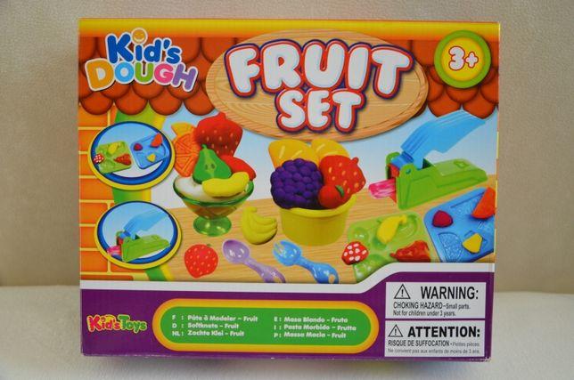 Nowy duży zestaw FRUIT SET masa plastyczna do robienia deserów owoców