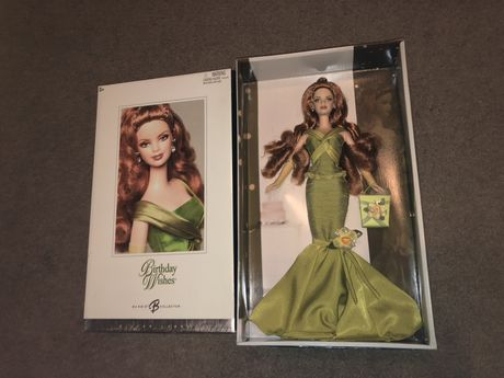 Kolekcjonerska lalka Barbie birthday wishes silver label NRFB