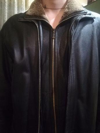 Курточка кожаная, плащ , кожанка,пальто большой размер,фурнитура