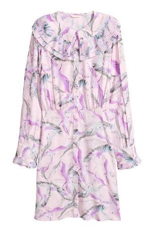 Nowa koszulowa sukienka H&M z plisowaniami