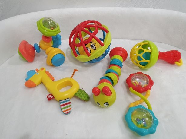 Погремушки Fisher price Battat Bright starts Bebelino цена за все
