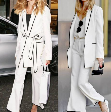 Spodnie kremowe blogerskie Zara 38