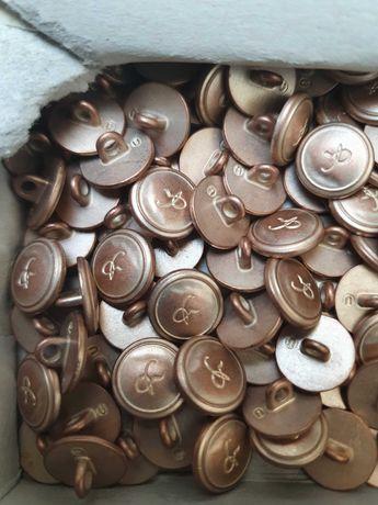 Guziki metalowe na stopce zlote 12 mm koszulowe