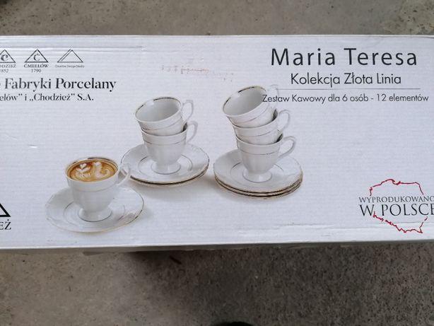 Zestaw kawowy Maria Teresa, linia złota