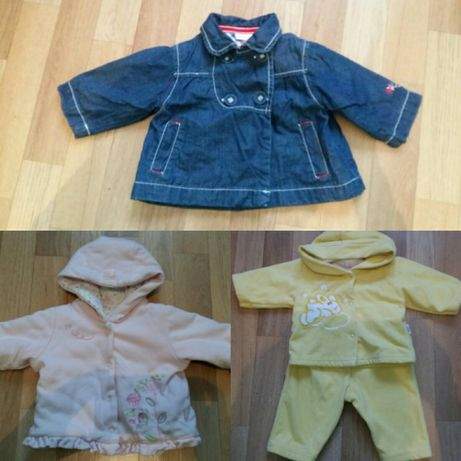 Осень-весна две курточки и костюмчик всего 130 грн