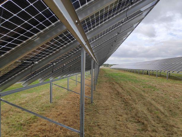 Koszenie farm fotowoltaicznych paneli