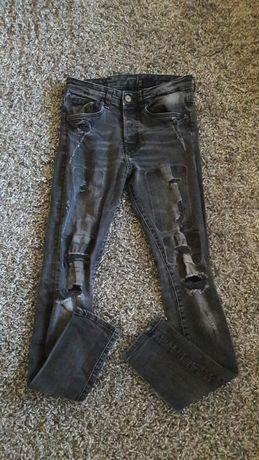 Skiny roz 36 H&M spodnie dziury