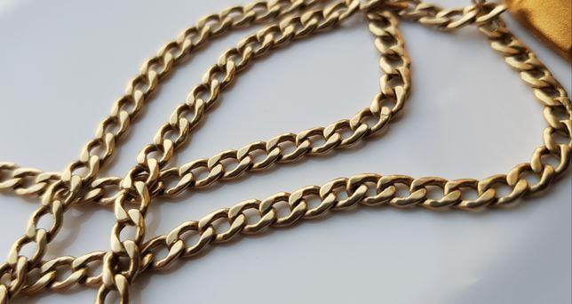 Piękny złoty łańcuszek PANCERKA pr.585 14k