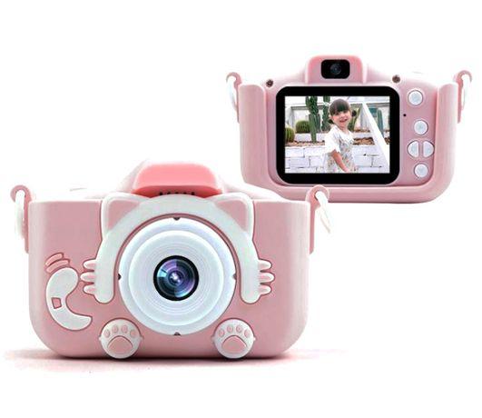 Фотоаппарат детский Котики с 2 камерами с селфи камерой 20мп