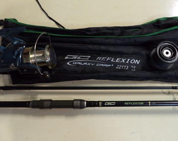 Карповое удилище Galaxy Reflexion 3.9-3.0 и катушка Banax Gelicon 5400