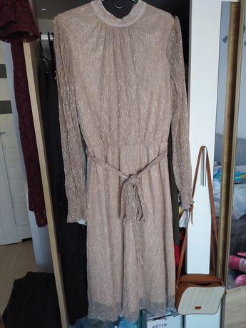 Sukienka Reserved 36 S złota