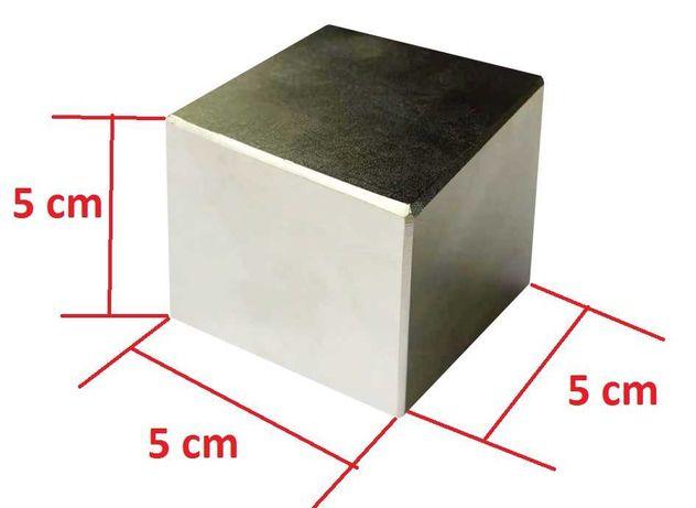 iman Cubo de neodimio - 50 x 50 x 50 mm +- 200 kg