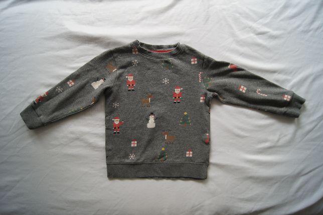 Świąteczna bluzka H&M uniseks r 110/116 ŚWIĘTA