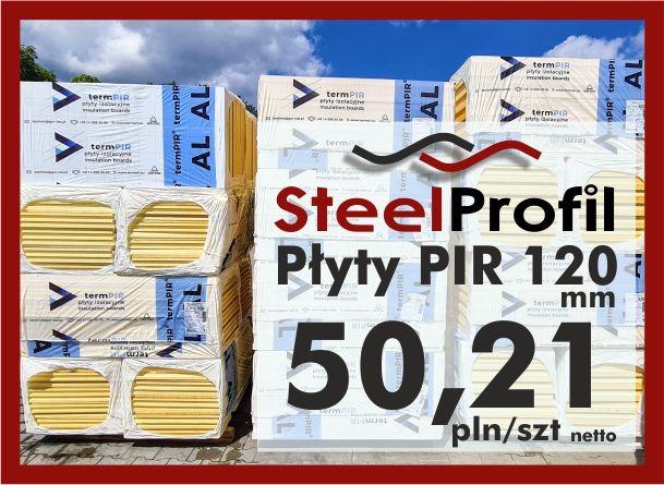 Płyta PIR poliuretan termPIR AL 120mm izolacja Płyty Izoproof XPS EPS
