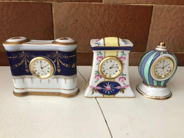 Colecção Relógios miniaturas em Porcelana