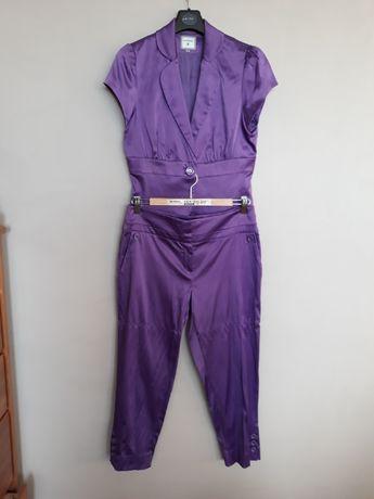 Spodnium Monnari,fioletowe,żakiet z krótkim rękawem+spodnie 7/8