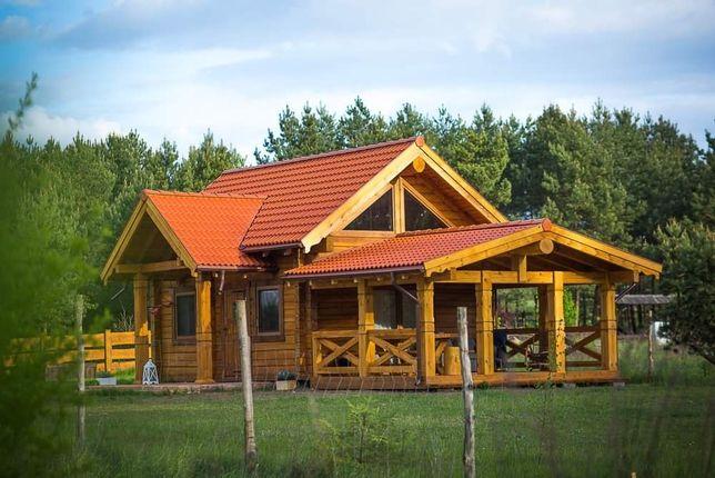 Domy z bali drewniane na zgłoszenie z bala -stelarzowe
