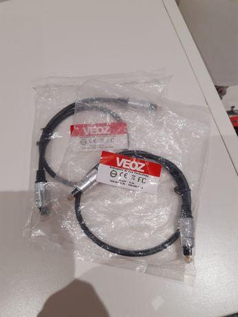 Kable optyczne Veoz toslink / Adat 0,5m. 2 sztuki nowe kabel