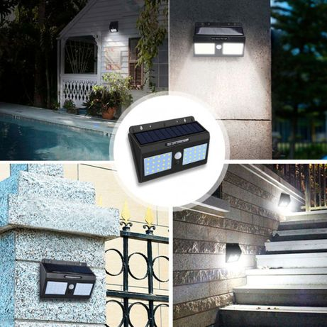 40 LED Уличный фонарь на солнечной батарее с датчиком движения 1626A