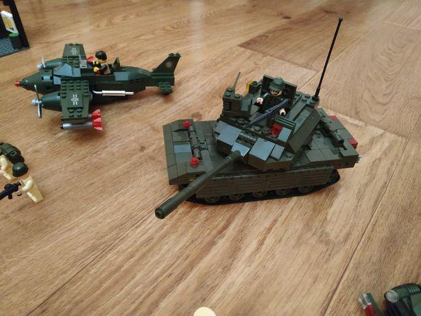 Конструктор Лего военная база солдатики танк самолёт пушка армия