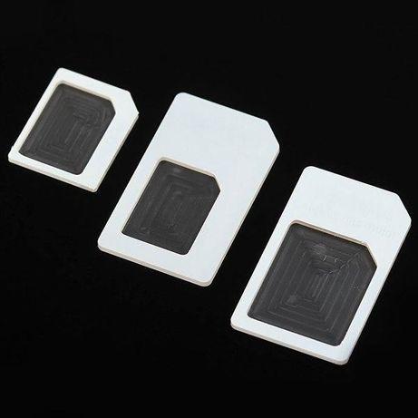 Adaptador (Micro Sim + Nano Sim para iPhone 6S / 6 Plus / 5 / 4 / 4S)