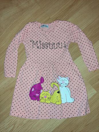 Sukienka z kotkami, rozmiar 98