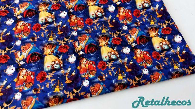 Retalhos Princesas Disney 100% algodão .