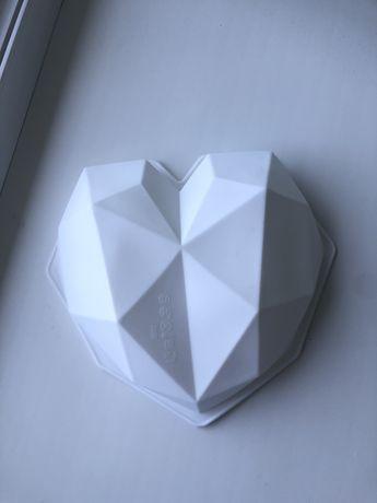 Силіконова форма серце