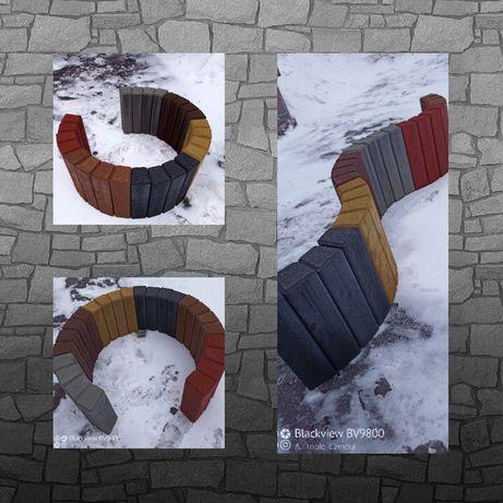 Palisada trapezowa kostka betonowa kolorowa