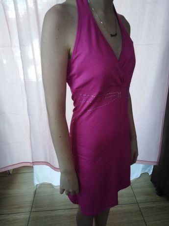 Sukienka rozowa z cekinami